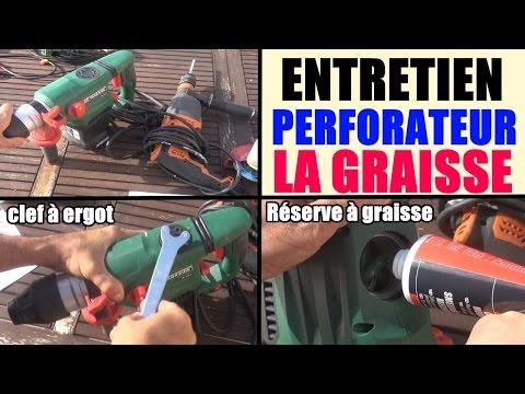 entretien perforateur burineur reserve à graisse graisser les outils graisse lithium clef à ergots