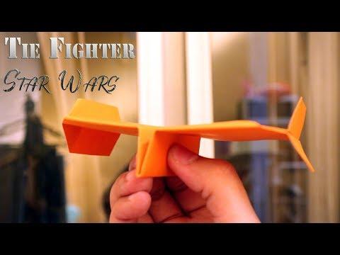 Cara membuat origami pesawat star wars tie fighter terbang jauh