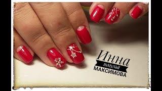 ❤ КОРРЕКЦИЯ ногтей гелем COSMOPROFI ❤ ноготки РАСТУТ ВВЕРХ ❤ любимый КРАСНЫЙ маникюр ❤