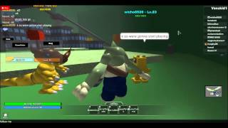 Fighting A Digimon Master on roblox With Wicho And Vanzkid