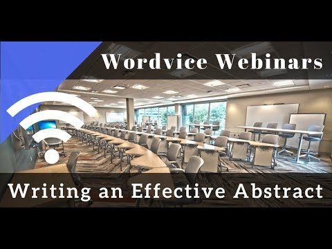 how to write an academic abstract