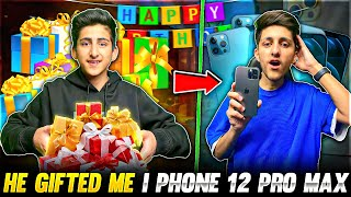 My Brother Gifted Me I Phone 12 Pro Max On My Birthday 🎂 😍 First Handcam - Garena Free Fire