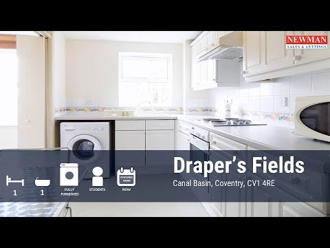 1 Bed Luxury Apartment for Student - Drapers Fields, Canal Basin, Coventry, CV1 4RE