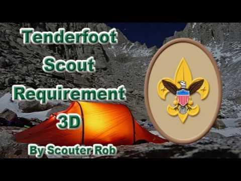 BSA Tenderfoot Rank Requirement 3D