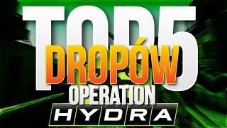 TOP 5 DROPÓW Z OPERACJI HYDRA! 4X AWP - DRAGON LORE!!! [CS:GO]
