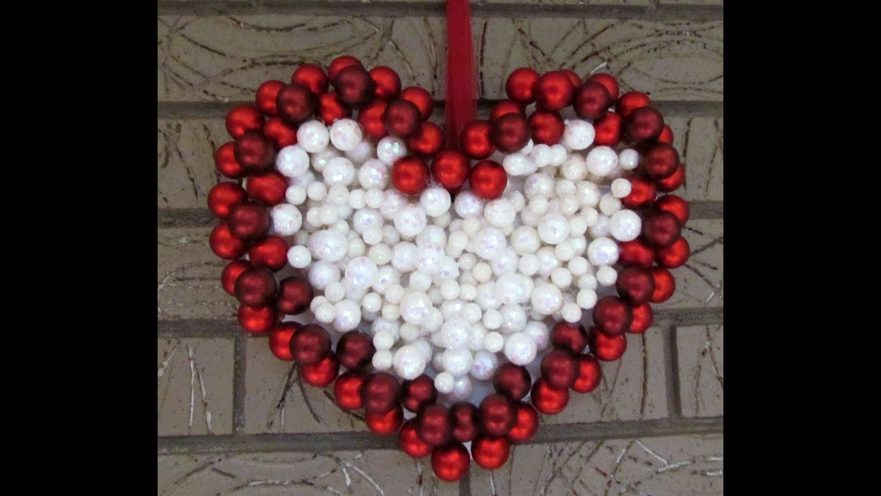 DIY Ornament Wreath Heart For Valentines Day