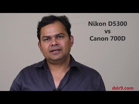 Nikon D5300 vs Canon 700D Comparison (Hindi)