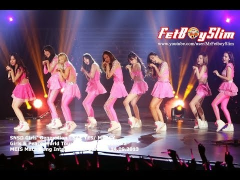 SNSD GIRLS' GENERATION - SAY YES / DANCING QUEEN Live In Jakarta, Indonesia 2013