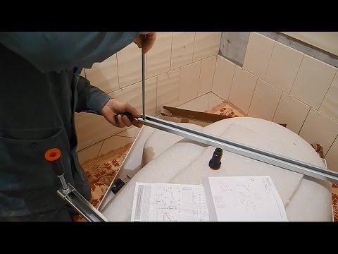 Монтаж угловой,акриловой ванны ч,1