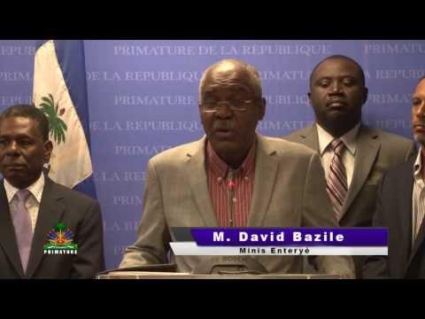 Conference de Presse :Intervention des ministres haïtiens