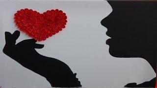 Подарок на День Святого Валентина. ( Картина своими руками )