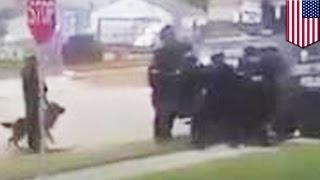 アメリカ・ウィスコンシン州で、警察の特殊部隊が犬を射殺したとして物...