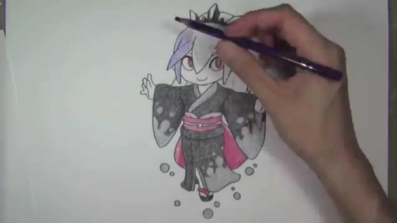妖怪ウォッチ 百鬼姫のかわいい絵イラストを描いてみた動画yo Kai Watch