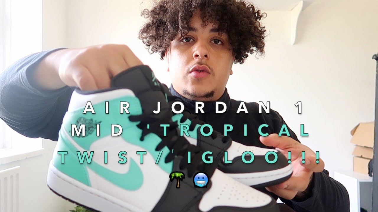 Air Jordan 1 Mid 'Tropical Twist/Igloo???? ' Review & Multi Outfit On Feet Try On!!!