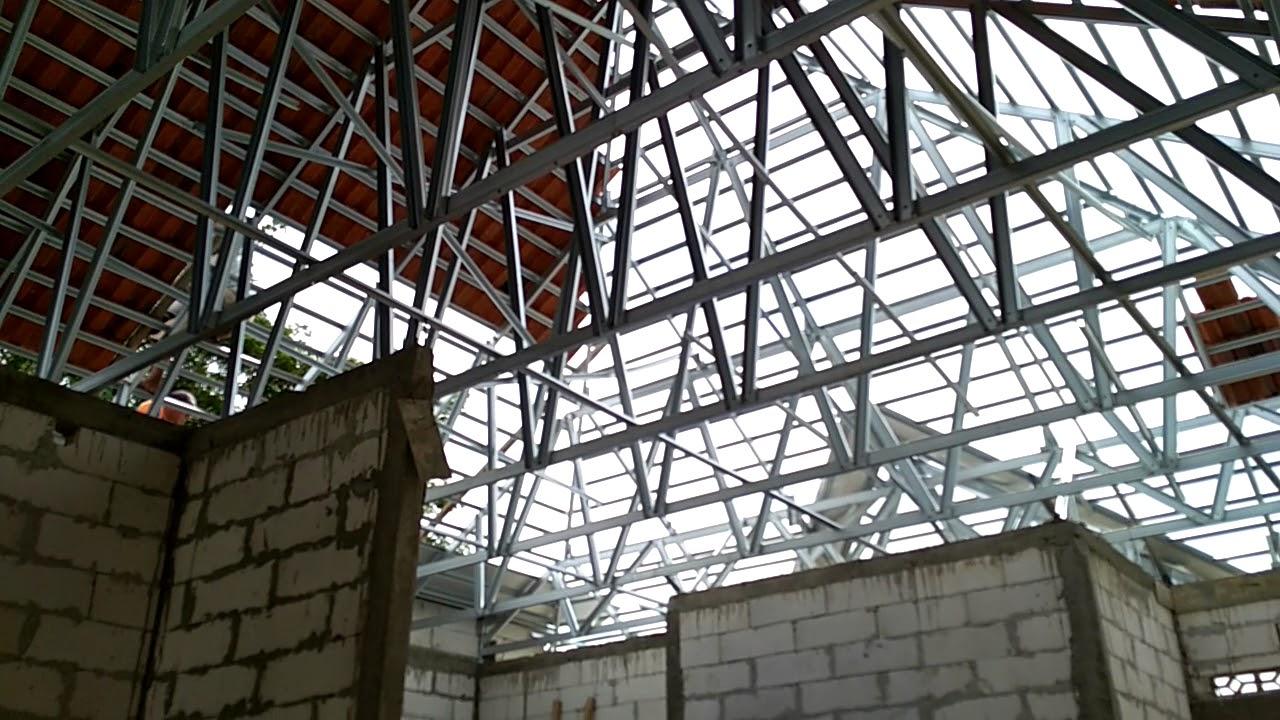 Gambar Rangka Atap Baja Ringan Limasan Rumah Batako Web Jawa Tengah Pake