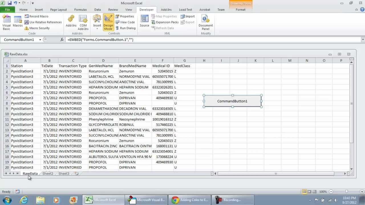 Vba Excel Template