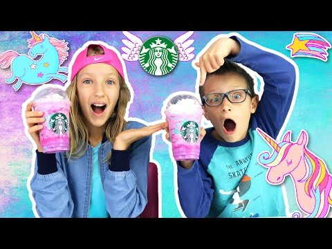 Thumbnail: 🌈 Starbucks UNICORN FRAPPUCCINO 🦄 Taste Test!
