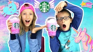 🌈 Starbucks UNICORN FRAPPUCCINO 🦄 Taste Test!