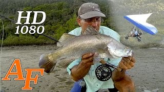Flying & Fly Fishing Barramundi using Ultralight Aircraft Andysfishing Fishing Video EP.199