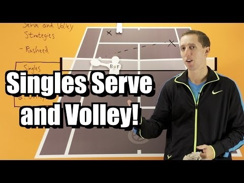 Singles Serve and Volley Strategy - Tennis Lesson - Tactics for Serve and Volley