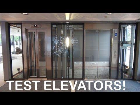 Awesome KONE Monospace elevators at KONE High Rise Laboratory Tytyri Finland (test tower)