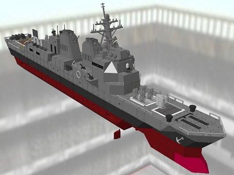 Battleship Craft 1.5.2 MOD - Arleigh Burke Class Destroyer