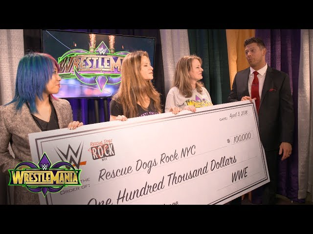 The Miz & Asuka present Rescue Dogs Rock with a huge WWE Mixed Match Challenge donation