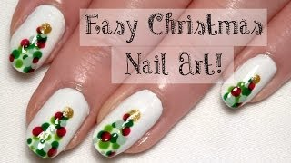 ♥ Easy Christmas Nail Art Tutorial... With A Bobby Pin! ♥ Cute Christmas Tree Nails ♥ Thumbnail