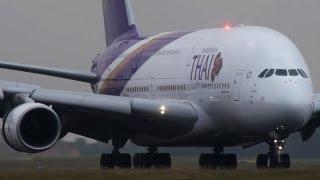 Paris CDG close-up landings - Boeing 777, B767, B757, Airbus A380, A340, A330, A310 ( HD )