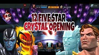 12 × 5 Star Crystal Opening ||MARVEL CONTEST OF CHAMPIONS ||