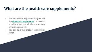 The Importance of Different Health Care Supplements