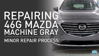 PPG Mazda Paint Code 46G Machine Gray Minor Repair Process (Part 1)