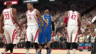 nba 2k17 gameplay rockets vs warriors hd 1080 p