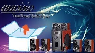 Unboxing -  auvisio Home-Theater Surround-Sound-System 5.1, MP3 / Radio, Holzoptik