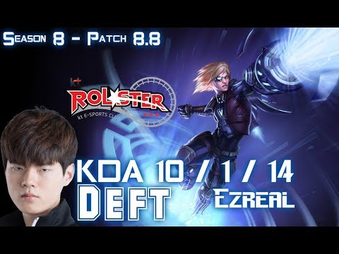 KT Deft EZREAL vs JHIN ADC - Patch 8.8 KR Ranked