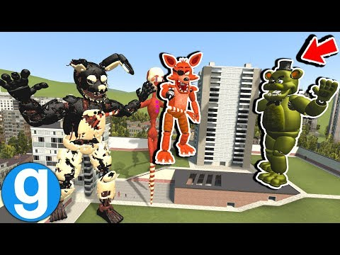 GIANT FREDDY LAND ATTRACTION PILL PACK TAKES OVER! [Garry's Mod Sandbox] Five Nights at Freddy's thumbnail