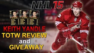 NHL 15: TOTW Review + Giveaway #3