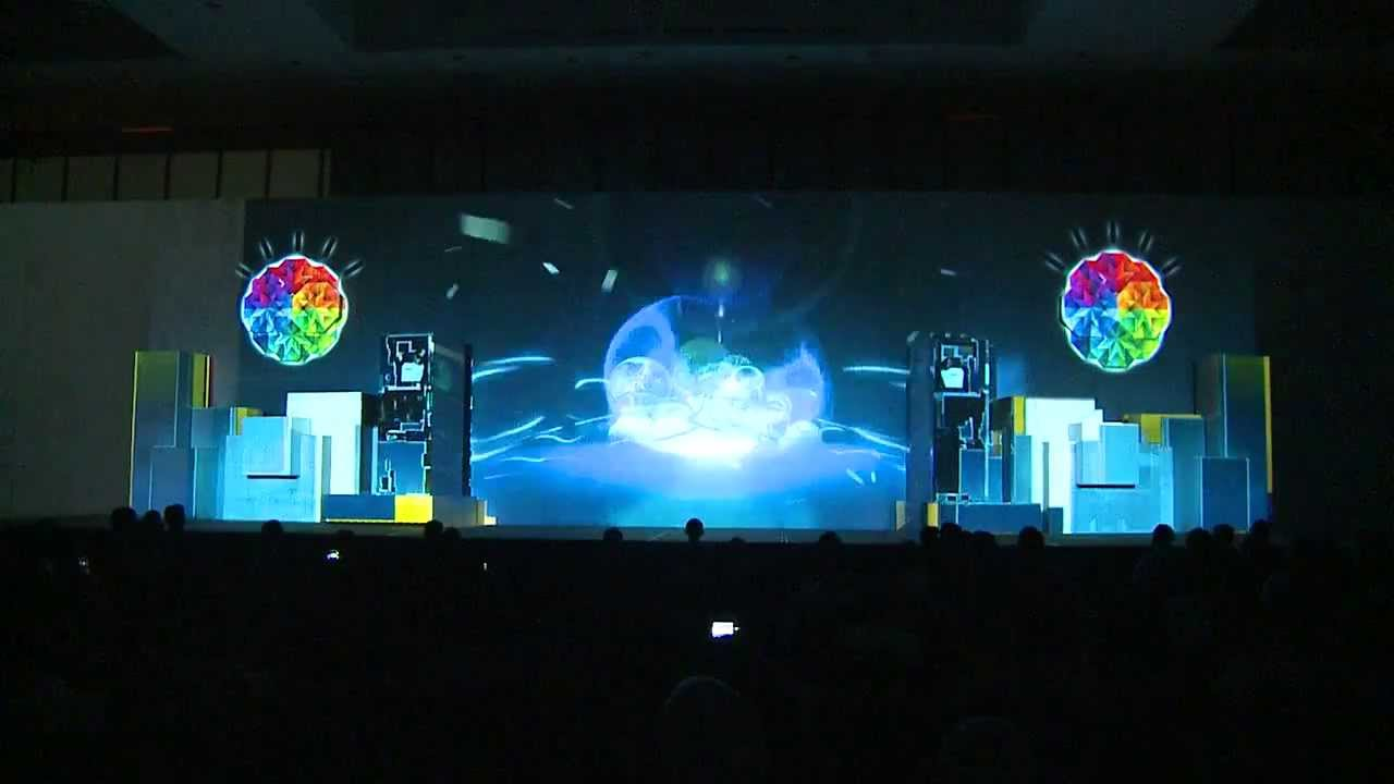Stage 3d Video Mapping Product Launching Ibm Conference