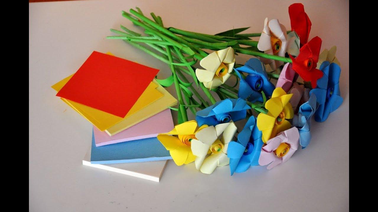 Kwiaty Z Papieru Krok Po Kroku How To Make A Flower With Paper Youtube