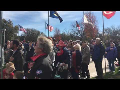Veterans Day memorial service national...