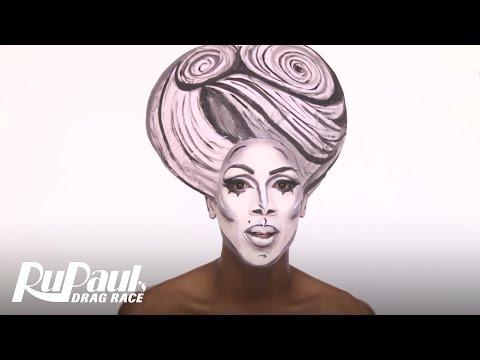 Drag Makeup Tutorial: Nina's Black & White 3D Glamour | RuPaul's Drag Race Season 9 | Now on VH1