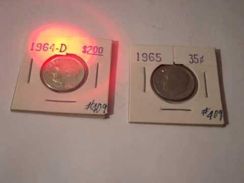 1964 versus 1965 coin