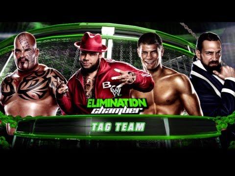 WWE Elimination Chamber 2013:  Brodus Clay & Tensai Vs. Team Rhodes Scholars | Pre-Show Tag Match