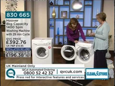 Hoover Optima 1400 Spin Washing Machine Demonstrated On QVC UK
