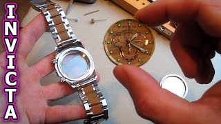 INVICTA Watch Repair Glass Crystal replace battery reserve specialty remove movement crown case