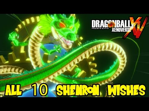 Dragon Ball Xenoverse: All Shenron Wishes (items, characters, ultimates, super attacks & more)