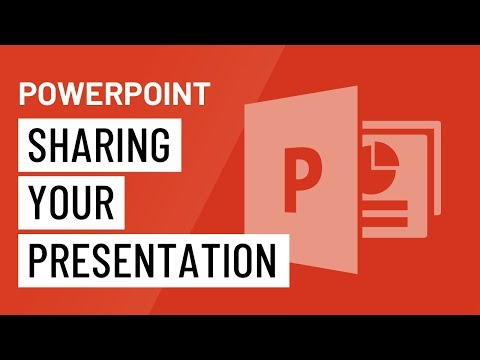 PowerPoint 2016: Sharing Your Presentation Online