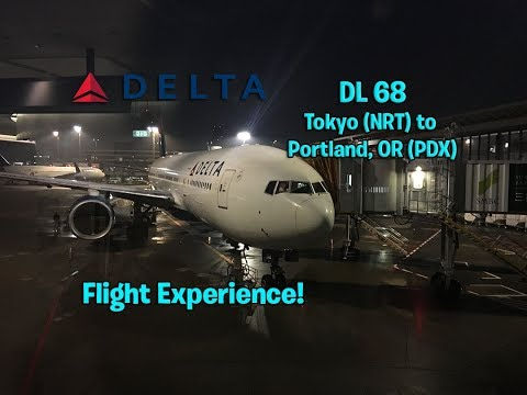 Delta Airlines DL 68 Tokyo-Narita to Portland, OR Main Cabin Flight Experience (December 1st, 2016)