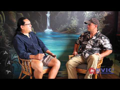 Hanalei Muralist Curtis Cabral Interviewed by Patrick Ching - KVIC-TV, myKauai.com