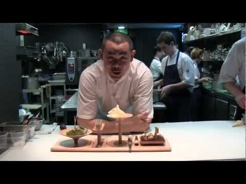 André Chiang Prepares The Amuse-bouches In Singapore